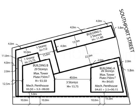 Southport Square Condos Site Plan